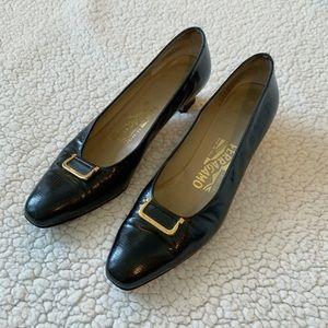 Salvatore Ferragamo Black Pumps Heels Shoes 8.5 AA